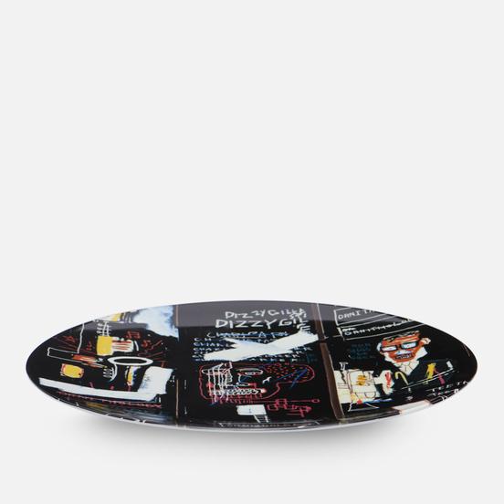 Тарелка Ligne Blanche Jean-Michel Basquiat Horn Players Black Large