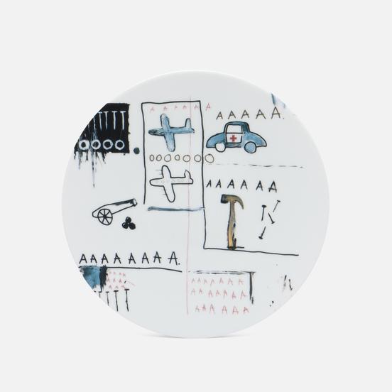 Тарелка Ligne Blanche Jean-Michel Basquiat AAA White Medium