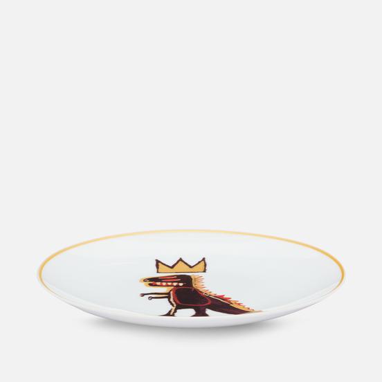 Тарелка Ligne Blanche Jean-Michel Basquiat Dragon White Medium