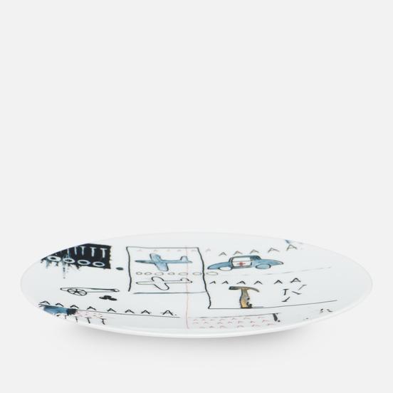 Тарелка Ligne Blanche Jean-Michel Basquiat AAA White Large