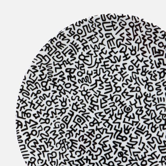 Тарелка Ligne Blanche Keith Haring Black Pattern Large