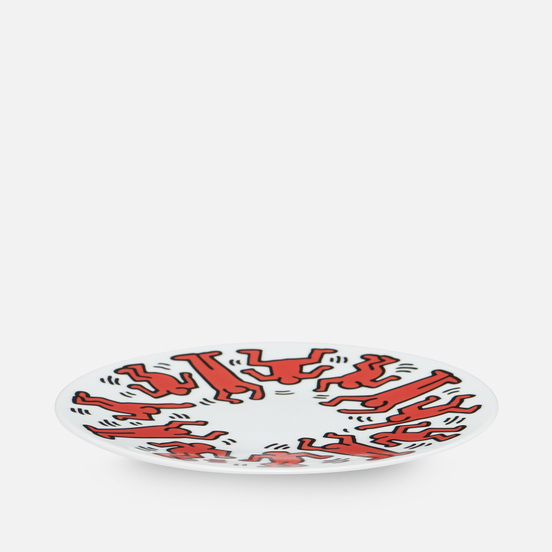 Тарелка Ligne Blanche Keith Haring Red On White Medium