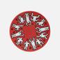 Тарелка Ligne Blanche Keith Haring White On Red Medium фото - 0