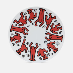 Тарелка Ligne Blanche Keith Haring Red On White Large