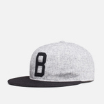 Мужская кепка Ebbets Field Flannels x Brandshop Ball Cap Black/Grey фото- 1