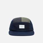 Кепка Kommon Universe Global 5 Panel Navy/Grey/Olive фото- 0
