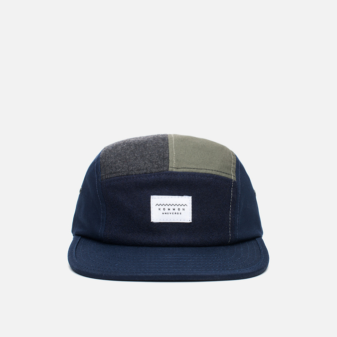 Кепка Kommon Universe Global 5 Panel Navy/Grey/Olive