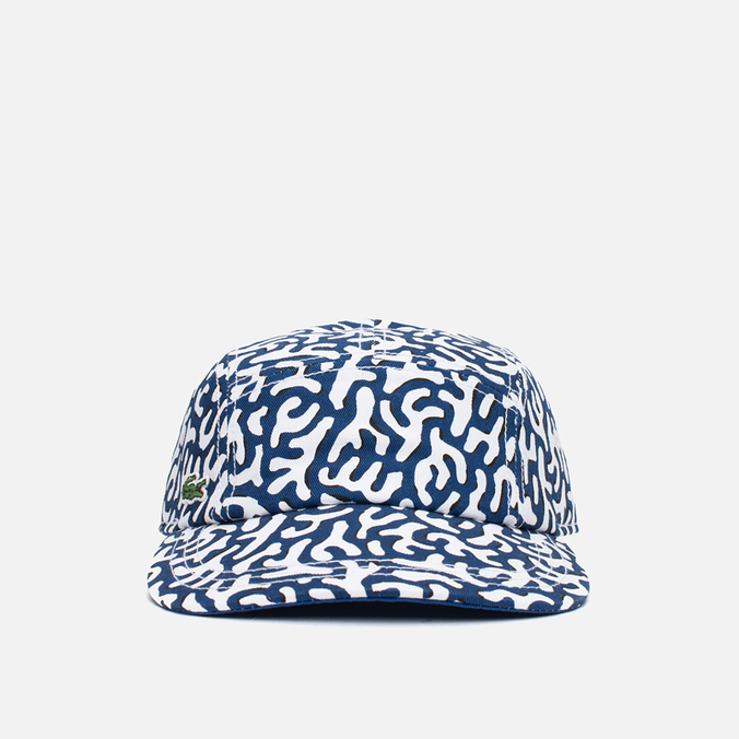 Кепка Lacoste Live 5-Panel Printed Navy/White