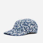 Кепка Lacoste Live 5-Panel Printed Navy/White фото- 1