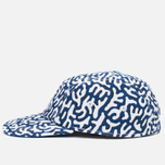 Кепка Lacoste Live 5-Panel Printed Navy/White фото- 2