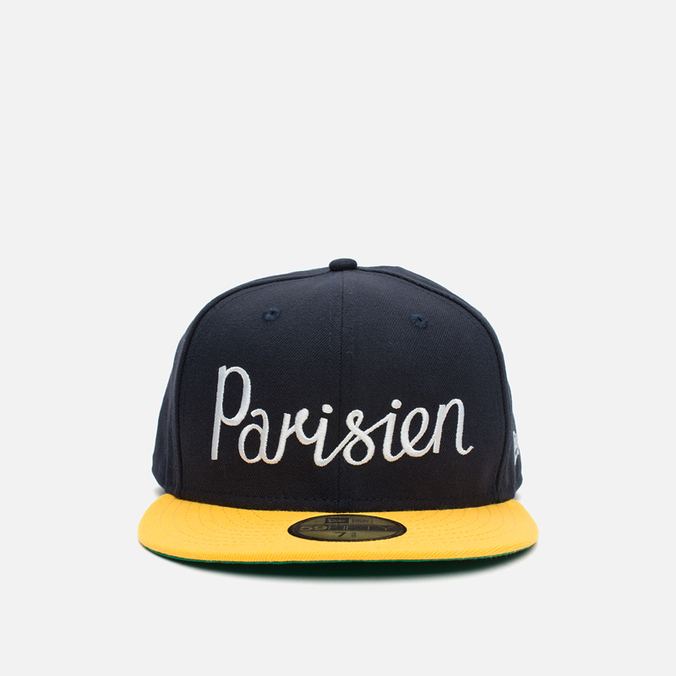Кепка Maison Kitsune x New Era Parisien 59Fifty Navy/Gold