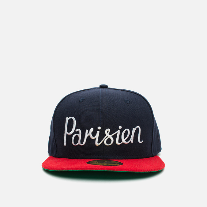 Maison Kitsune x New Era Parisien 59Fifty Cap Navy/Red