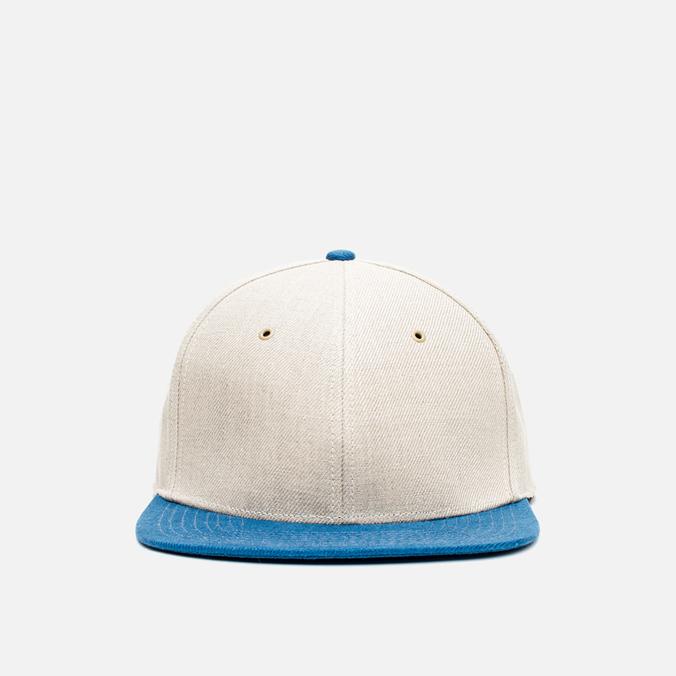 Nanamica Linen Cap Tan/Blue