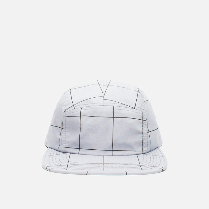 Кепка Norse Projects Grid Linen 5 Panel Light Grey
