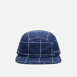 Кепка Norse Projects Grid Linen 5 Panel Navy фото- 0