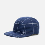 Кепка Norse Projects Grid Linen 5 Panel Navy фото- 1