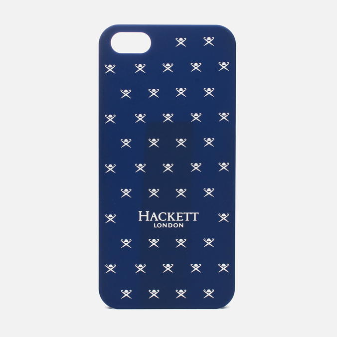 Чехол Hackett Logo Hard iPhone 5 Navy/White
