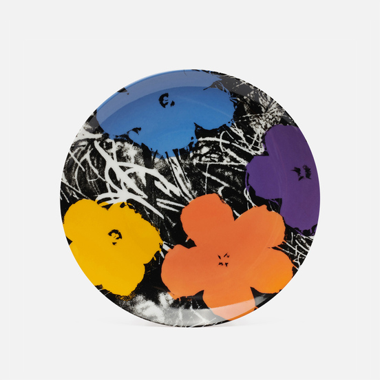 Тарелка Ligne Blanche Andy Warhol Flower Purple Medium