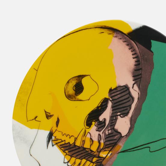 Тарелка Ligne Blanche Andy Warhol Skull Yellow/Pink/Green Medium