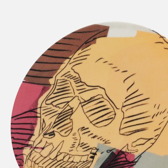Тарелка Ligne Blanche Andy Warhol Skull Brown/Beige/Pink Medium