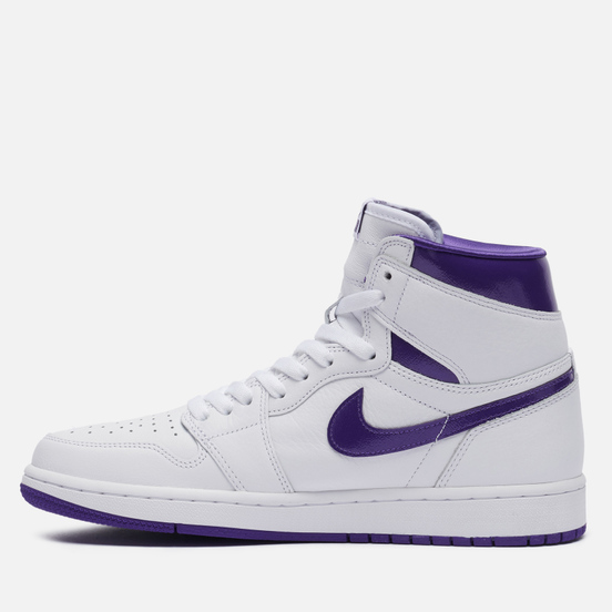 Мужские кроссовки Jordan Wmns Air Jordan 1 Retro High OG White/Court Purple
