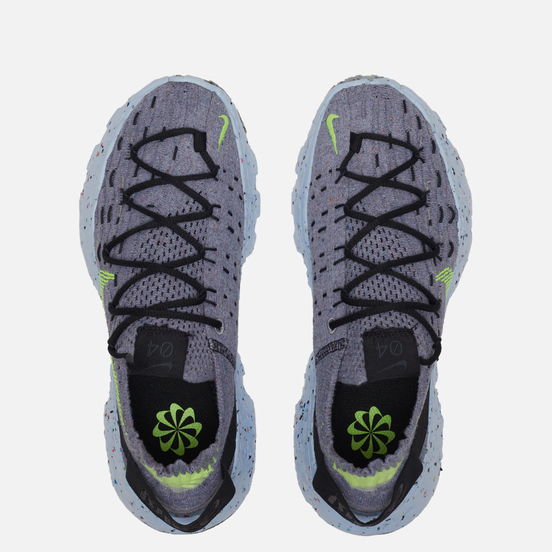 Женские кроссовки Nike Wmns Space Hippie 04 Grey/Volt/Black/Dark Smoke Grey