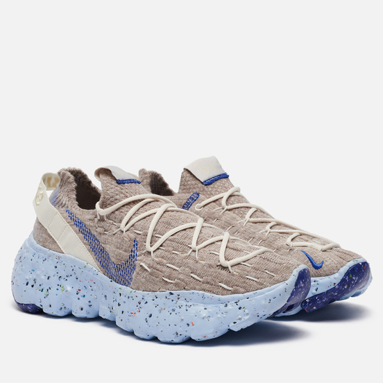 Женские кроссовки Nike Space Hippie 04 Sail/Astronomy Blue/Fossil/Chambray Blue