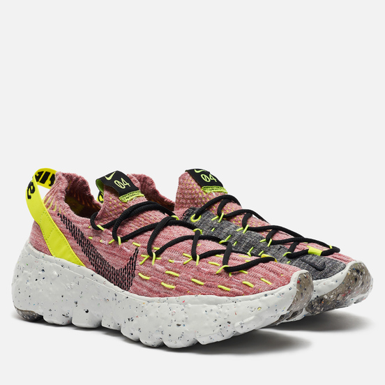 Женские кроссовки Nike Space Hippie 04 Lemon Venom/Black/Light Arctic Pink
