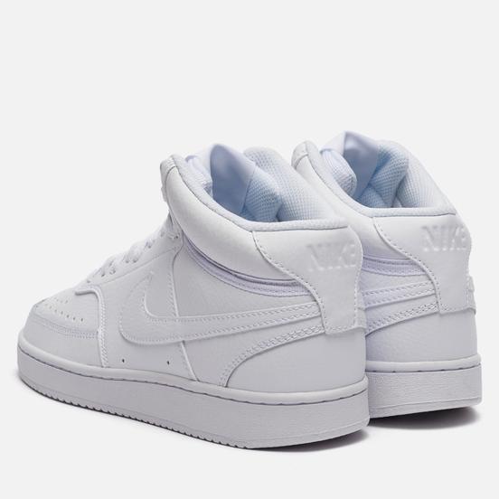 Женские кроссовки Nike Wmns Nike Court Vision Mid White/White/White