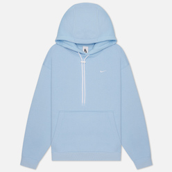 Мужская толстовка Nike NRG Embroidered Swoosh Hoodie Team Psychic Blue