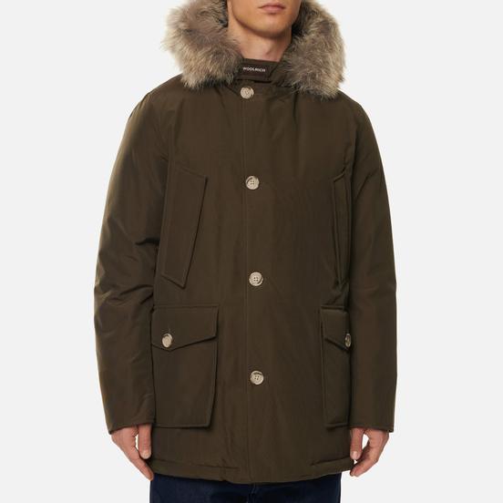 Мужская куртка парка Woolrich Arctic Detachable Fur Brown Olive