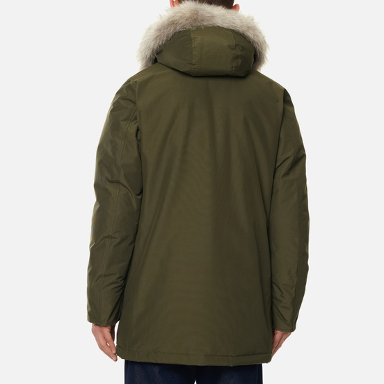 Мужская куртка парка Woolrich Arctic Detachable Fur Dark Green