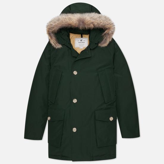 Мужская куртка парка Woolrich Arctic Detachable Fur Dark Holly Green