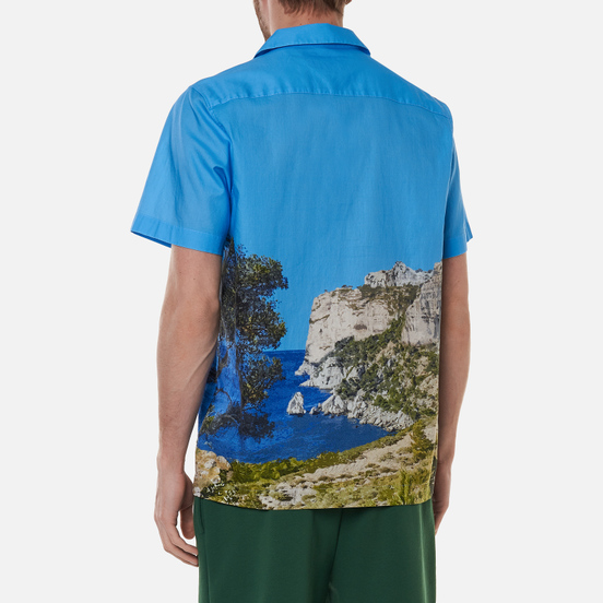 Мужская рубашка Lacoste Hawaiian Print Ibiza/Multi-Color