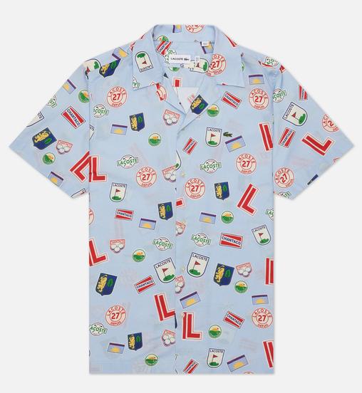 Мужская рубашка Lacoste Hawaiian Print Blue/White