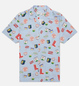 Мужская рубашка Lacoste Hawaiian Print Blue/White фото - 0
