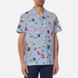 Мужская рубашка Lacoste Hawaiian Print Blue/White фото - 2