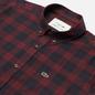 Мужская рубашка Lacoste Regular Fit Checkered Black/Bordeaux фото - 1