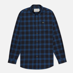 Мужская рубашка Lacoste Regular Fit Checkered Black/Blue Chine
