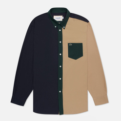Мужская рубашка Lacoste Lightweight Regular Fit Colourblock Navy Blue/Green/Beige