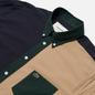 Мужская рубашка Lacoste Lightweight Regular Fit Colourblock Navy Blue/Green/Beige фото - 1