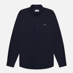 Мужская рубашка Lacoste Slim Fit Flamed Navy Blue/White