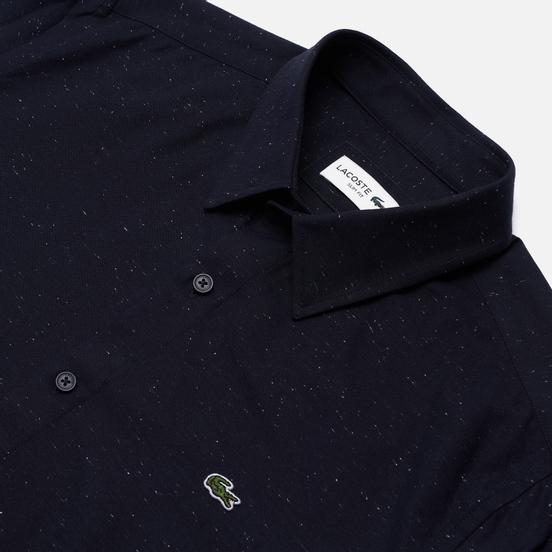 Мужская рубашка Lacoste Slim Fit Flamed Navy Blue/White
