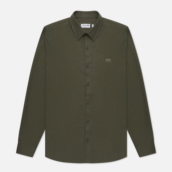Мужская рубашка Lacoste Slim Fit Flamed Baobab/Flour