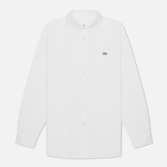 Мужская рубашка Lacoste Live Relaxed Fit Premium Cotton White