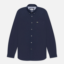 Мужская рубашка Lacoste Regular Fit Cotton Oxford Navy Blue/Navy Blue