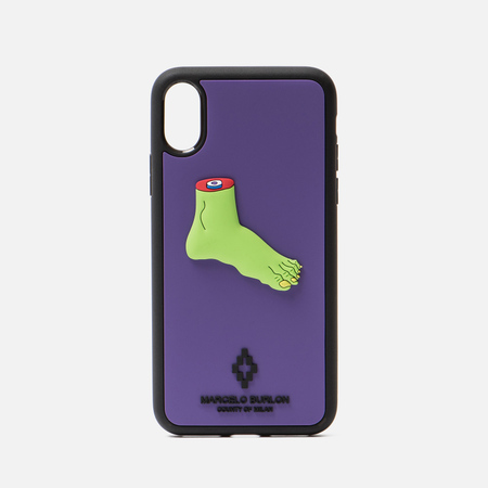 Чехол Marcelo Burlon Foot iPhone X Violet/Multicolor