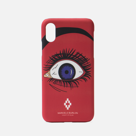 Чехол Marcelo Burlon Red Eye iPhone X Red/Multicolor