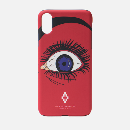 Чехол Marcelo Burlon Red Eye iPhone Xr Red/Multicolor