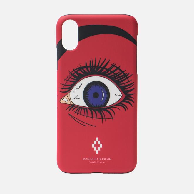 Чехол Marcelo Burlon Red Eye iPhone Xr Red/Multicolor